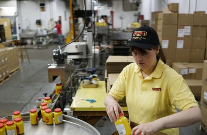 Empires custom designed 16oz PET Jar for Webers Mustard