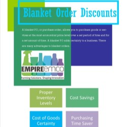 Save money with blanket order discounts